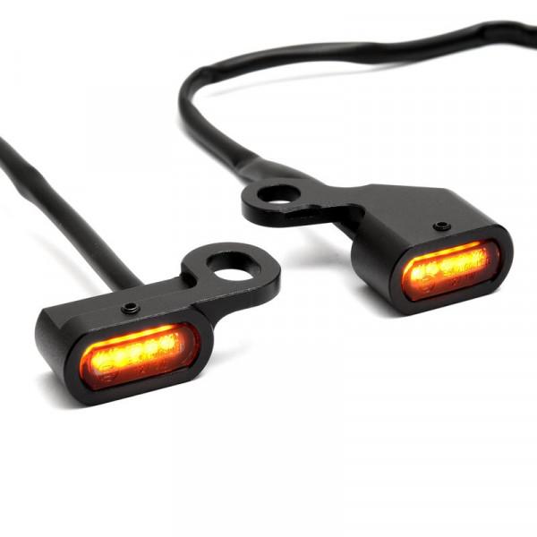 Mini LED Blinker für Lenkerarmatur Softail 96-14, Dyna 96 - 17, Sportster 96 -13