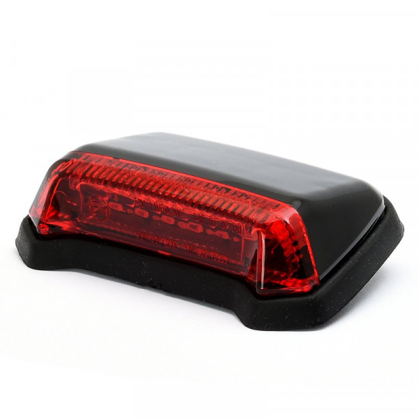 Super Flat LED-Rücklicht Schwarz