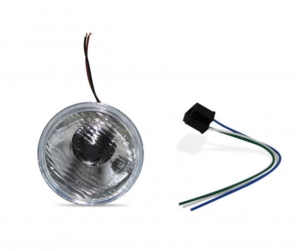 4 Zoll Scheinwerfereinsatz gerippt, inklusive H4- und Standlichtbirne