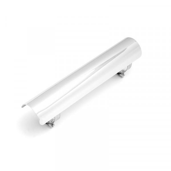 Hitzeschutzblech für 1-¾ , 45 mm Krümmer, 254 mm lang, Chrom
