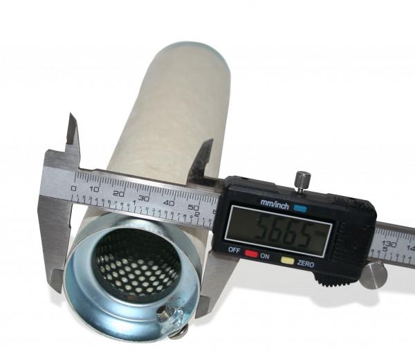 dB-Killer ca. 57 mm x 254 mm Universal dB-Eater für 2 3/8 Zoll Auspuffkrümmer