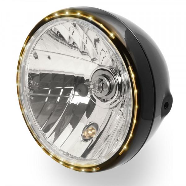7 Zoll Scheinwerfer mit H4-Birne und LED-Standlichtring