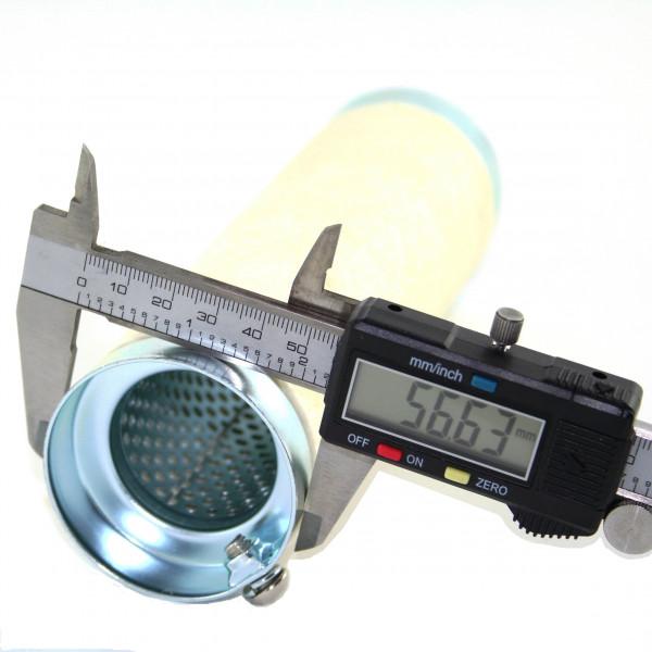 dB-Killer ca. 57 mm x 201 mm Universal dB-Eater für 2 3/8 Zoll Auspuffkrümmer