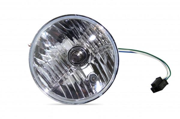 7 Zoll Scheinwerfereinsatz Diamond Cut Reflektor, Klar, inklusive H4- und Standlichtbirne