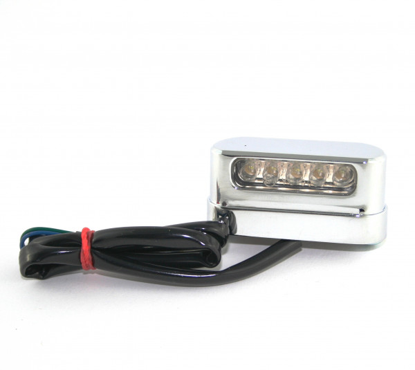 Kennzeichenbeleuchtung, Hochglanzverchromt, LED-Technologie, Metallgehäuse