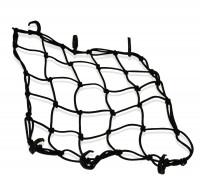 Schwarzes Gepäcknetz mit 5 mm Materialstärke für universelle Verwendung, 6 Haken