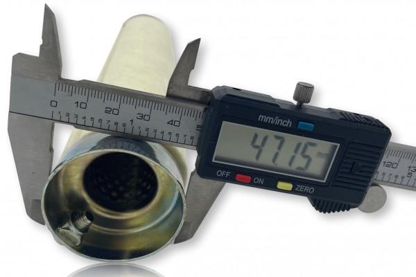 dB-Eater ca. 47 mm x 254 mm Universal dB-Eater für 2 Zoll Auspuffkrümmer