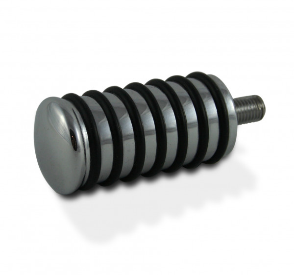 Hochglanzverchromtes Schaltpedal im klassischen Sundance-Style mit schwarzen O-Ringen