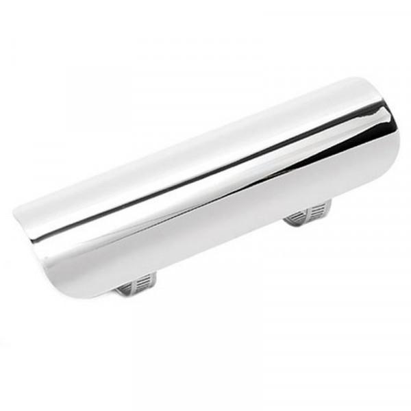Hitzeschutzblech für 1-¾ , 45 mm Krümmer, 180 mm lang, Chrom