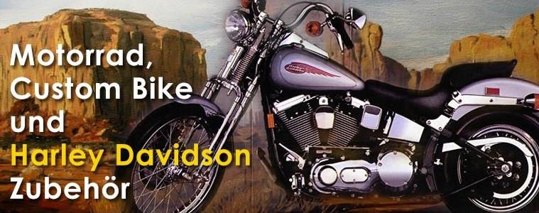 Wir bieten Zubehör für Harleys und Custombikes