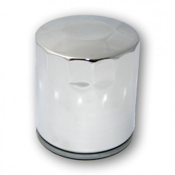 Hochglanzverchromter Ölfilter in mittlerer Länge für 99er Evo Softail und alle Twin Cam 88