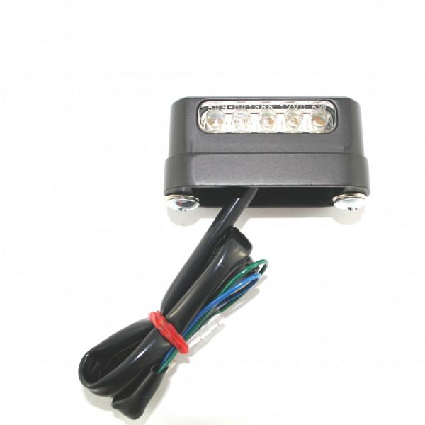 Kennzeichenbeleuchtung, Matt-Schwarzes Metallgehäuse Gehäuse, LED-Technologie