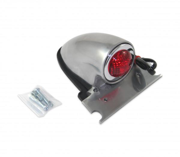 Sparto-Rücklicht, Brems- und Rücklicht, Hochglanzpolierte Aluminiumgehäuse, Ink. Kennzeichenhalter