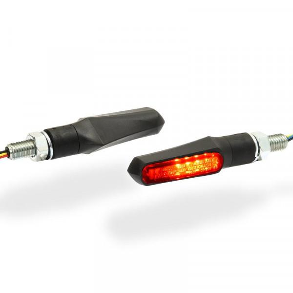 LED-Blinker mit Rück-Bremslicht-Kombination Schwarz