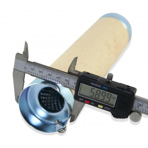 dB-Killer ca. 59 mm x 264 mm Universal dB-Eater für 2 1/2 Zoll Auspuffkrümmer