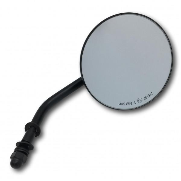 4 Zoll Custom Spiegel rund mit E-Zulassung in schwarz für Harley Davidson KUSTOM66