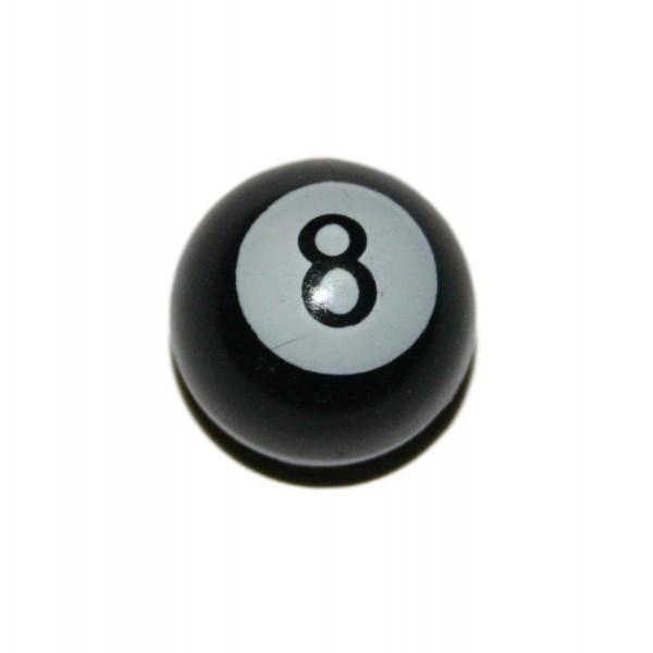 Ventilkappe 8 Ball in schwarz für Harleys Chopper und Eigenbauten