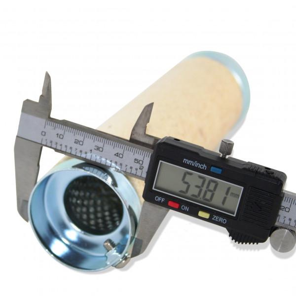 dB-Killer ca. 54 mm x 207 mm Universal dB-Eater für 2 1/4 Zoll Auspuffkrümmer