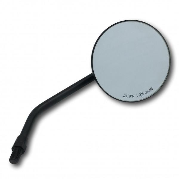 4 Zoll Custom Spiegel rund mit E-Zulassung in schwarz für japanische Motorräder KUSTOM66