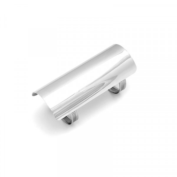 Hitzeschutzblech für 2-¼ , 57 mm Krümmer, 152 mm lang, Chrom