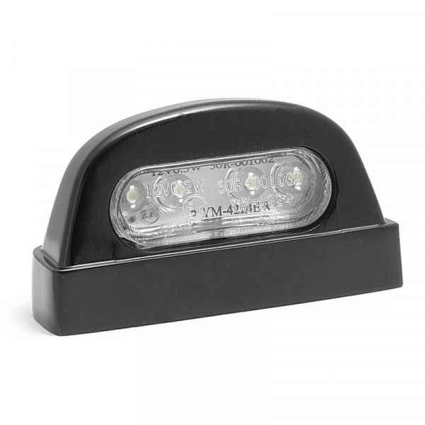 Kennzeichenbeleuchtung LED Schwarz oval