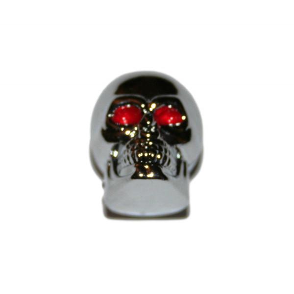 Ventilkappe Totenkopf Skull in chromfarben