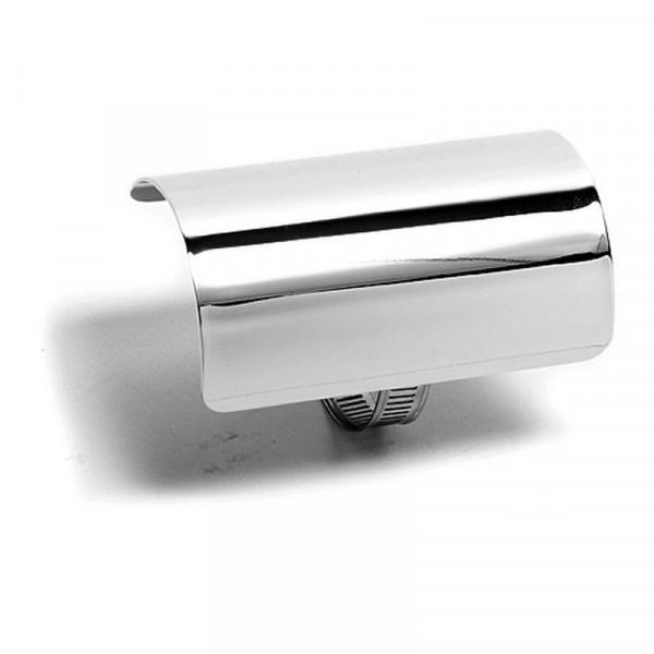 Hitzeschutzblech Universal 4 (10 cm) Chrom
