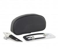 Mini Rückenpolster mit verchromter Rückenplatte für short Sissybar