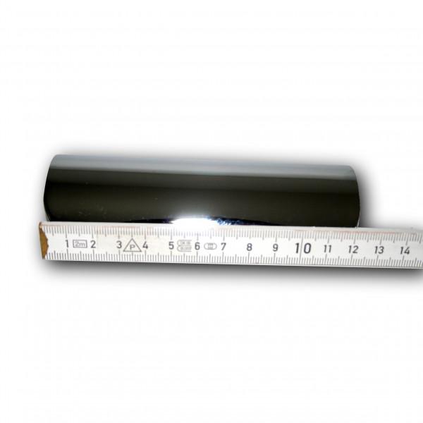 Hitzeschutzblech Universal 5 Zoll (ca. 12,5 cm) hochglanzverchromt, Silber
