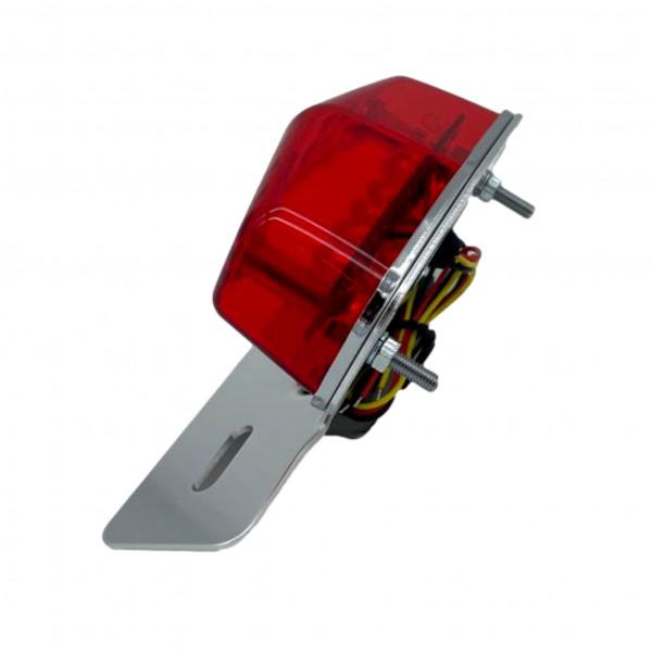 LED-Rücklicht mit Halter schwarz mit rotem Glas, ECE